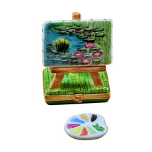 "Load image into Gallery viewer, Rochard ""Monet Easel"" Limoges Box"