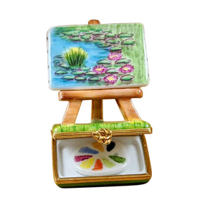 "Rochard ""Monet Easel"" Limoges Box"