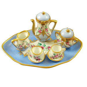 "Rochard ""Light Blue, 8 Piece Tea Set"" Limoges Box"