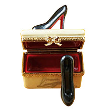 "Load image into Gallery viewer, Rochard ""Shoe Box with Stilettos"" Limoges Box"