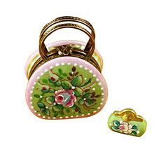 "Load image into Gallery viewer, Rochard ""Round Purse with Coin Wallet Victoria"" Limoges Box"