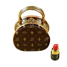 "Load image into Gallery viewer, Rochard ""Designer Purse with Lipstick"" Limoges Box"