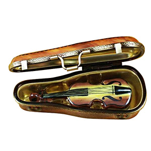 "Rochard ""Maplewood Violin Case with Violin"" Limoges Box"