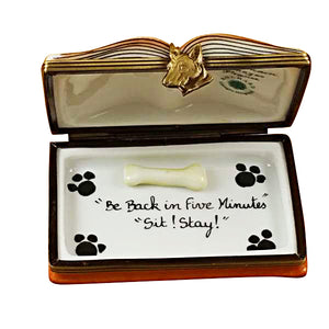 "Rochard ""Veterinarian Book"" Limoges Box"