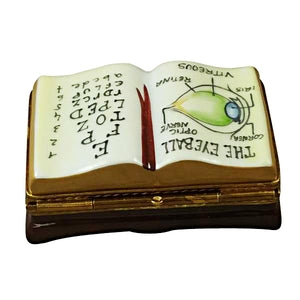 "Rochard ""Ophthalmologist / Eye Doctor Book"" Limoges Box"