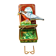"Load image into Gallery viewer, Rochard ""North American Book of Birds with Removable Glasses"" Limoges Box"