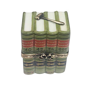 "Rochard ""Law Books with Gavel"" Limoges Box"