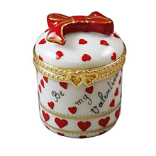 "Load image into Gallery viewer, Rochard ""Heart Jewel Box - Be My Valentine"" Limoges Box"
