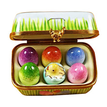 "Load image into Gallery viewer, Rochard ""Easter Egg Box with Eggs"" Limoges Box"