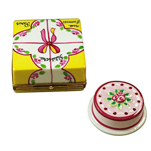 "Rochard ""Cake Box with Cake"" Limoges Box"