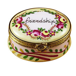 "Rochard ""Friendship Oval"" Limoges Box"