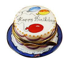 "Load image into Gallery viewer, Rochard ""Happy Birthday Cake - Vanilla"" Limoges Box"