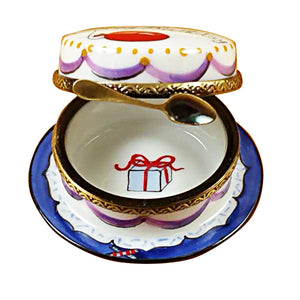 "Rochard ""Happy Birthday Cake - Vanilla"" Limoges Box"