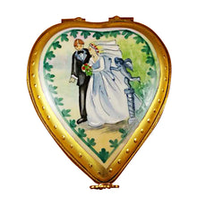 "Load image into Gallery viewer, Rochard ""Heart with Wedding Couple - Studio Collection"" Limoges Box"