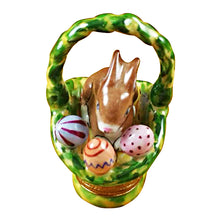 "Load image into Gallery viewer, Rochard ""Rabbit Basket with Easter Eggs"" Limoges Box"