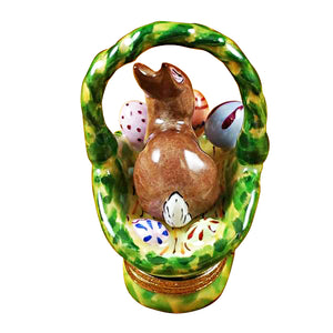 "Rochard ""Rabbit Basket with Easter Eggs"" Limoges Box"
