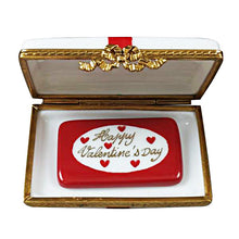 "Load image into Gallery viewer, Rochard ""Gift Box with Red Bow - Happy Valentine's Day"" Limoges Box"
