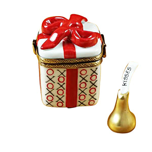 "Rochard ""Love Gift box with XO/XO & Removable Kiss"" Limoges Box"