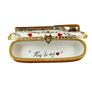 "Rochard ""Key to My Heart"" Limoges Box"