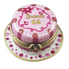 "Load image into Gallery viewer, Rochard ""Sweet Sixteen Birthday Cake"" Limoges Box"