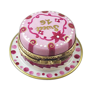 "Rochard ""Sweet Sixteen Birthday Cake"" Limoges Box"
