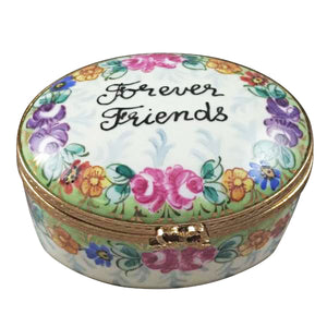 "Rochard ""Forever Friends Oval"" Limoges Box"