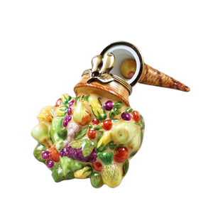 "Rochard ""Cornucopia with Removable Pear"" Limoges Box"