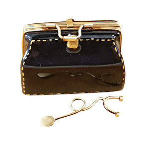 "Rochard ""Doctor's Bag with Stethoscope"" Limoges Box"