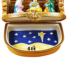 "Load image into Gallery viewer, Rochard ""Nativity Stable"" Limoges Box"