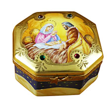 "Load image into Gallery viewer, Rochard ""Nativity Octagon"" Limoges Box"