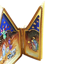 "Load image into Gallery viewer, Rochard ""Triptych - Nativity"" Limoges Box"
