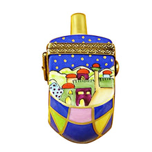 "Load image into Gallery viewer, Rochard ""Jerusalem Scene Dreidel"" Limoges Box"