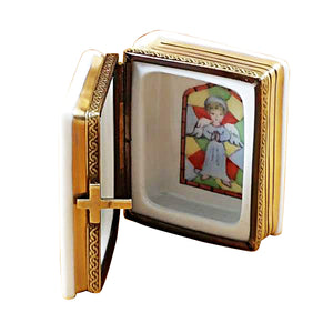 "Rochard ""White Bible"" Limoges Box"