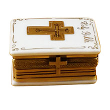 "Load image into Gallery viewer, Rochard ""White Bible"" Limoges Box"