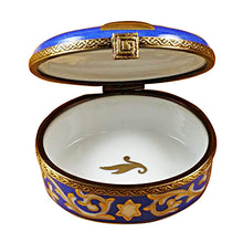"Load image into Gallery viewer, Rochard ""Menorah - Blue"" Limoges Box"