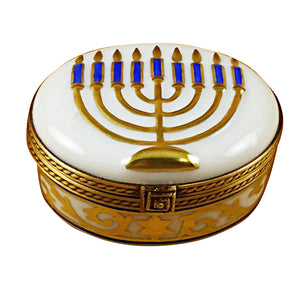 "Rochard ""Menorah - White"" Limoges Box"