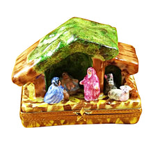 "Load image into Gallery viewer, Rochard ""Manger - Nativity"" Limoges Box"