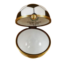 "Load image into Gallery viewer, Rochard ""Soccer Ball"" Limoges Box"