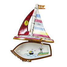 "Load image into Gallery viewer, Rochard ""Sailboat"" Limoges Box"
