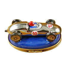 "Load image into Gallery viewer, Rochard ""Race Car - Blue Base"" Limoges Box"