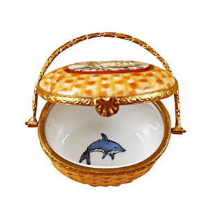 "Rochard ""Nantucket Basket with Lighthouse"" Limoges Box"