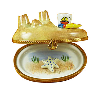"Rochard ""Sandcastle with Pail"" Limoges Box"