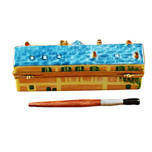 "Rochard ""Monet's Residence at Giverny with Removable Paint Brush"" Limoges Box"