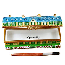 "Load image into Gallery viewer, Rochard ""Monet's Residence at Giverny with Removable Paint Brush"" Limoges Box"