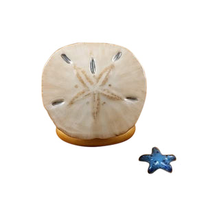 "Rochard ""Sand Dollar with Starfish"" Limoges Box"