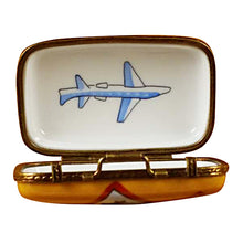 "Load image into Gallery viewer, Rochard ""Suitcase with Large Tags"" Limoges Box"