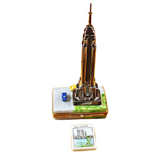 "Load image into Gallery viewer, Rochard ""Empire State Building with Cars"" Limoges Box"