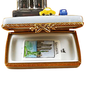 "Rochard ""Empire State Building with Cars"" Limoges Box"