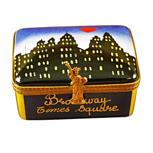 "Rochard ""New York Skyline By Night"" Limoges Box"