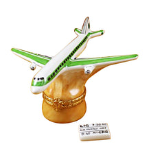 "Load image into Gallery viewer, Rochard ""Airplane - Rochard Airlines"" Limoges Box"